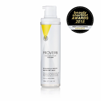 PROVERB Cleanse & Shave Nutrient Mud, 100ml