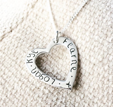 Dinky Fingerprint's Personalised Heart Necklace