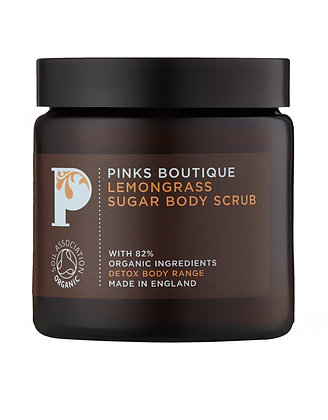 Pinks Boutique Lemongrass Body Scrub, 125g