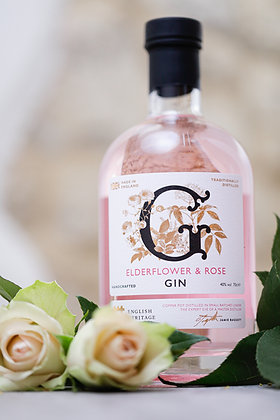 English Heritage Elderflower & Rose Gin, 70cl
