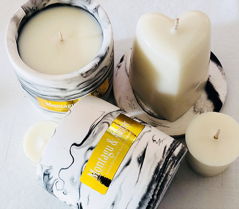 Montagu & Amber Marble Effect Votive Candle