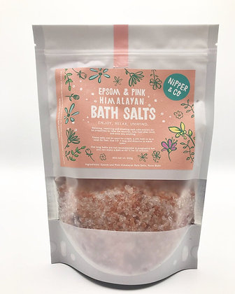 Organic Epsom and Himalayan Pink Bath Salts, 500g
