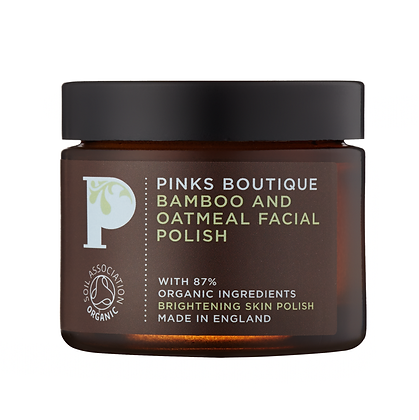Pinks Boutique Bamboo and Oatmeal Facial Polish, 60g
