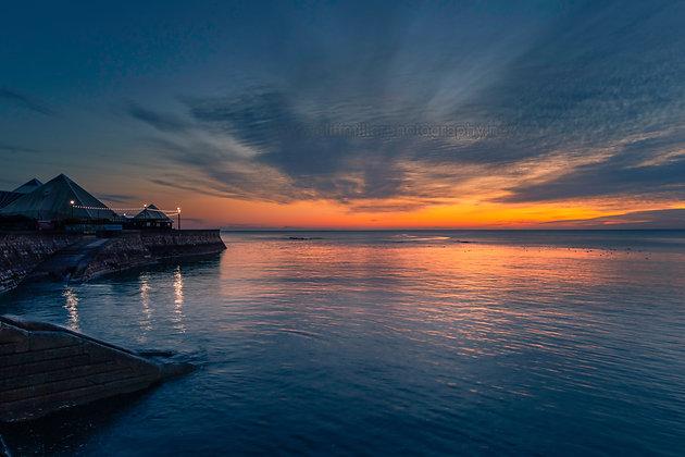Promenade lights at dawn.