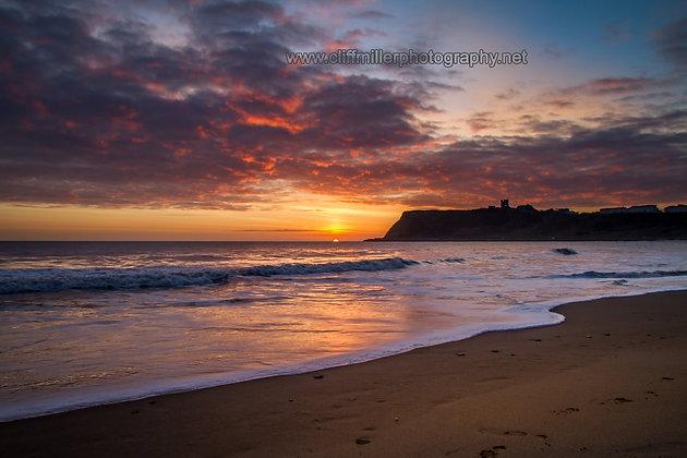 White surf at sunrise