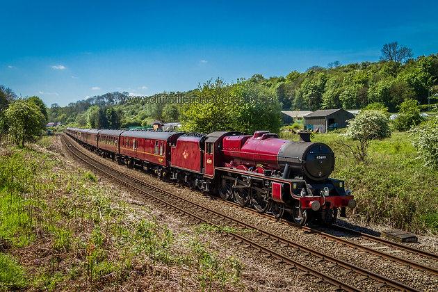 "Ex LMS ""Jubilee"" class locomotive 45699 ""Galatea"""