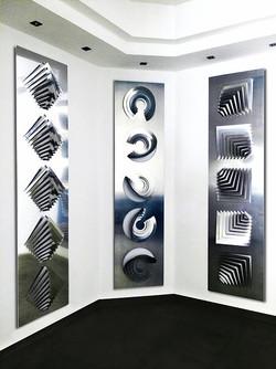 Wall sculpture -  ( 200x 50cm) aluminium amb ok
