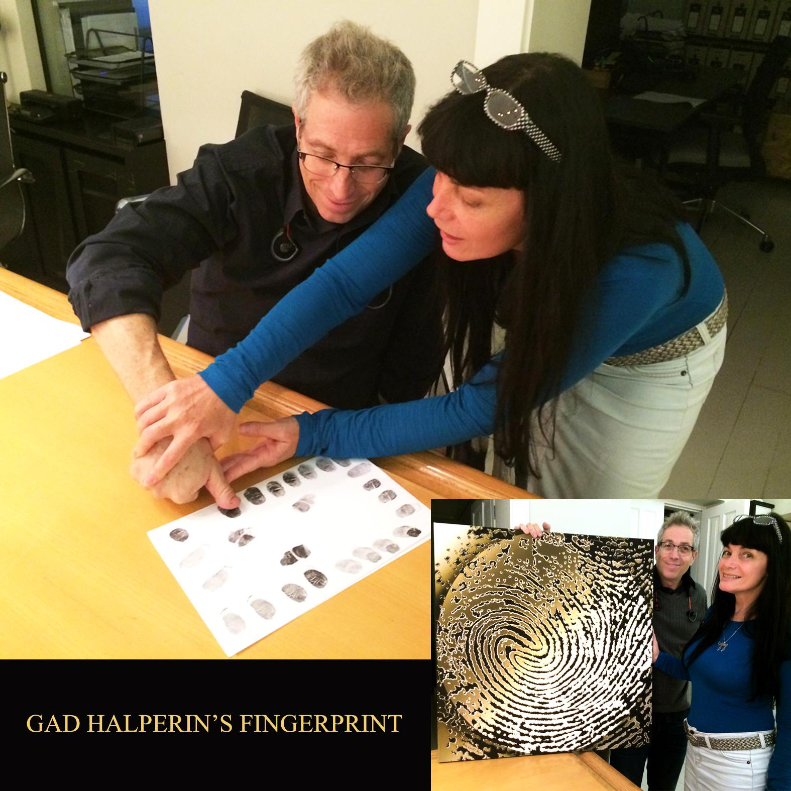 Gad Halperin's fingerprint