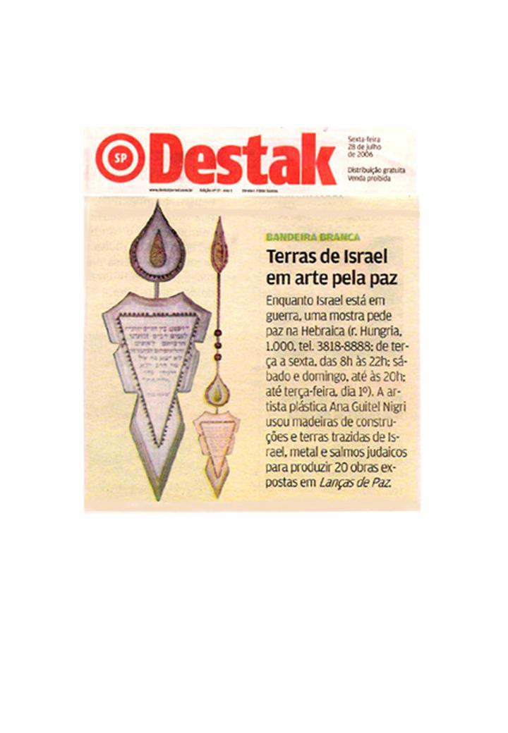 "newspaper ""Destak"" 28/07/2006"