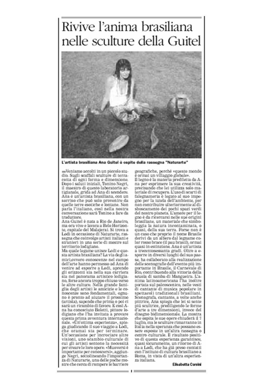 "newspaper ""il Cittadino"" Italy"