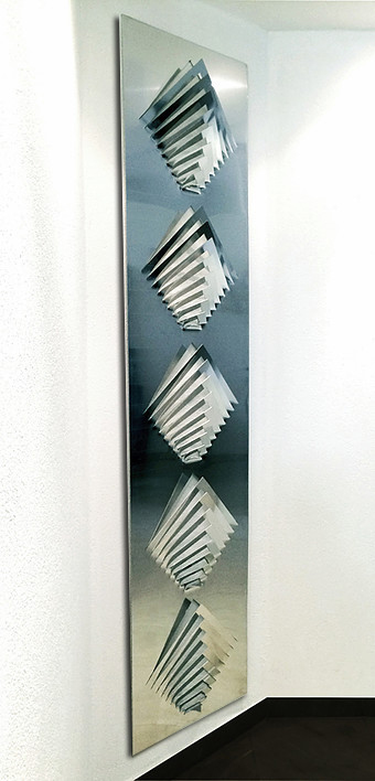 Wall sculpture - 5 straight arrows ( 200x 50cm)ok