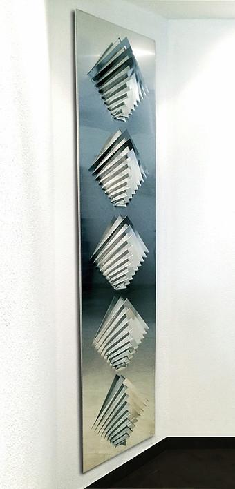 Wall sculpture - 5 straight arrows ( 200x 50cm)ok