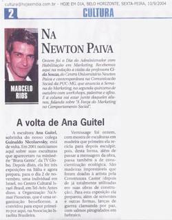 """newspaper """"HOJE EM DIA"""" 10/09/2004"""