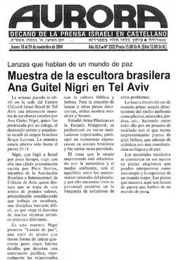 "newspaper ""Aurora"" Israel 18/11/2004"