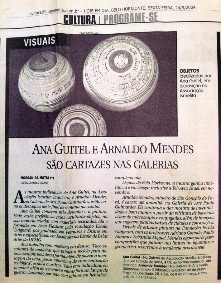 """newspaper """"HOJE EM DIA"""" 24/09/2004"""