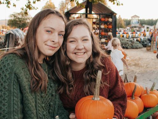 Hope &  Katie, BFF Pumpkin Patch Photoshoot