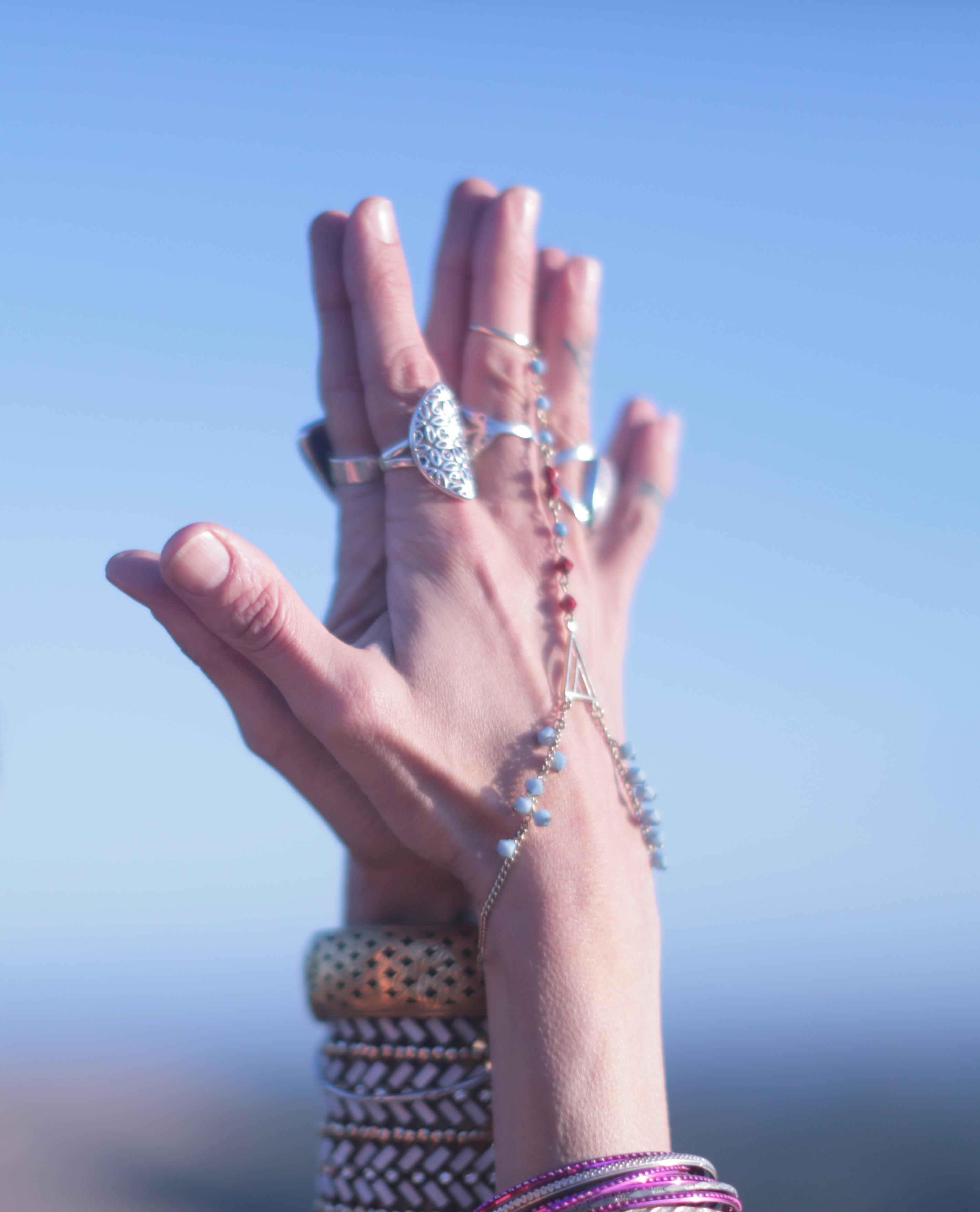 Hand adornment power pose