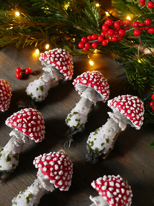 MADE TO ORDER - Toadstool Tree Ornaments