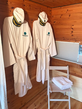 Bathrobe and towels for rental