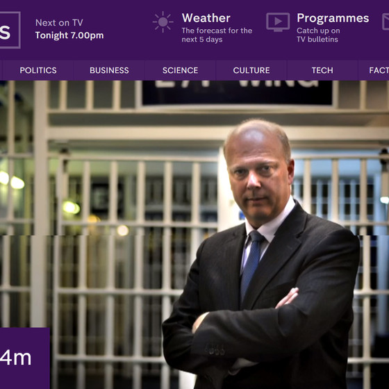 Ian Clewlow interviewed by Channel 4 News regarding re-nationalisation of probation service