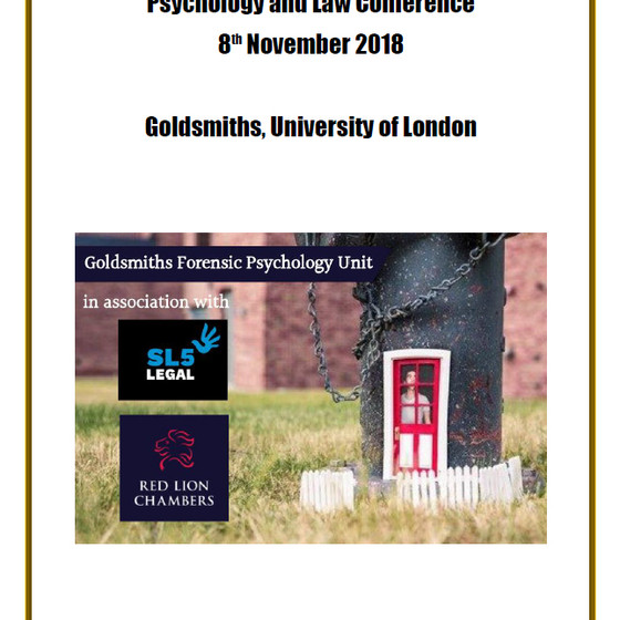 SL5 Legal co-hosts Psychology and Law Conference with Goldsmiths and Red Lion Chambers