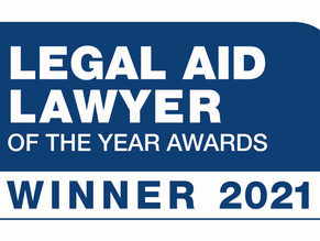 Andrew Sperling - WINNER of Legal Aid Lawyer of the Year 2021