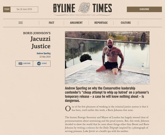Boris Johnson's Jacuzzi Justice, Byline Times
