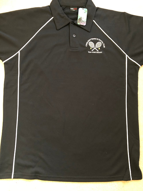 Official Polo Shirt Black/White Trim (Mens)