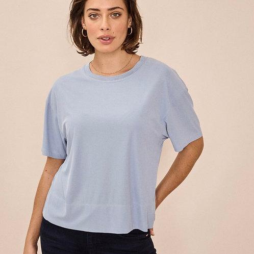 Mos Mosh silke t-shirt (lys blå)