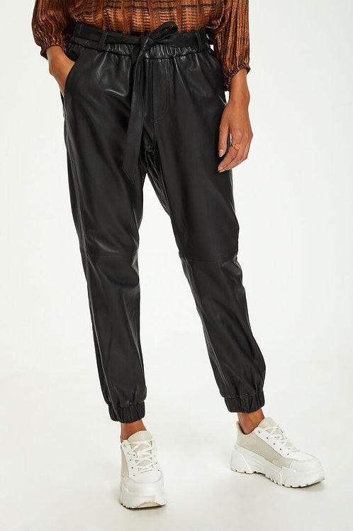 Cream læder pants