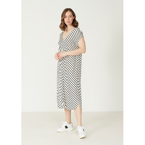 Isay kjole (sort/hvidstribet)