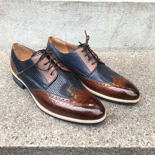 Melvin & Hamilton sko (brun/blå)