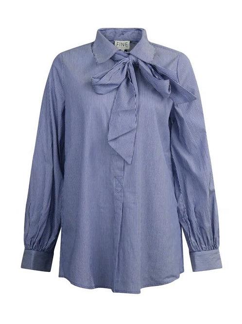 Fine Copenhagen skjorte (blå/hvidstribet)