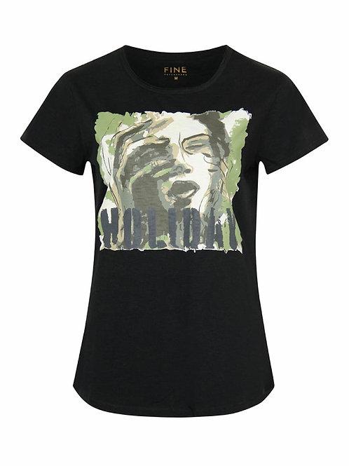 Fine Copenhagen t-shirt (sort m/print)