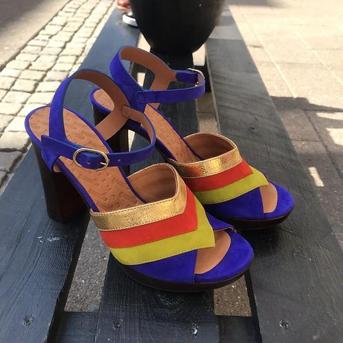 Chie Mihara sandal (blå/grøn/rød/guld)