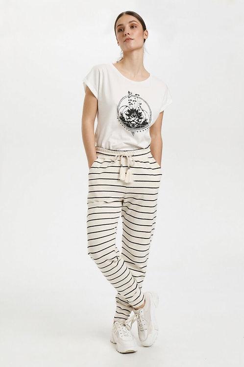 Cream pants (sort/hvid)
