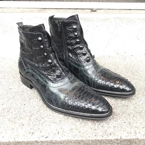 Jo Ghost støvle (sort/grøn)