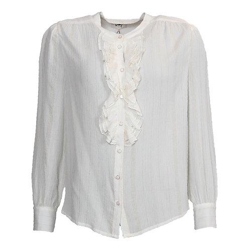 Isay skjorte (hvid m/guldtråd)