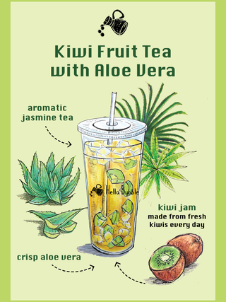 Kiwi Fruit Tea with Aloe Vera