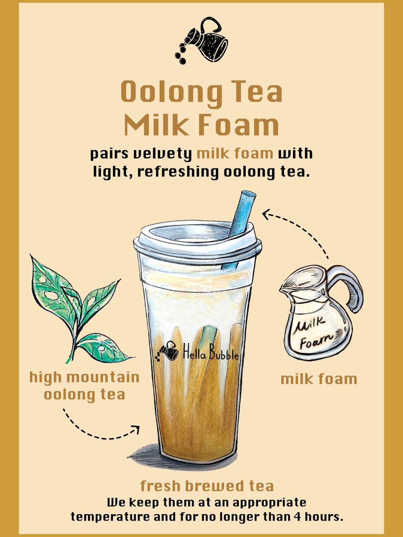 Oolong Tea Milk Foam