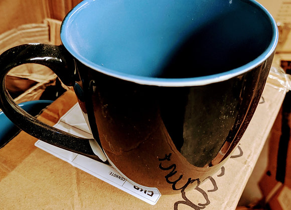 Jumbo two tone coffee cup