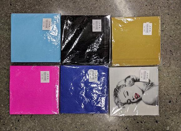 serviettes assorted designs/colours
