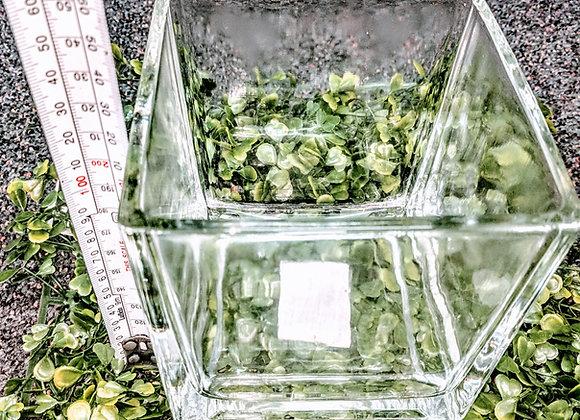 RAVE SQUARE GLASS VASE