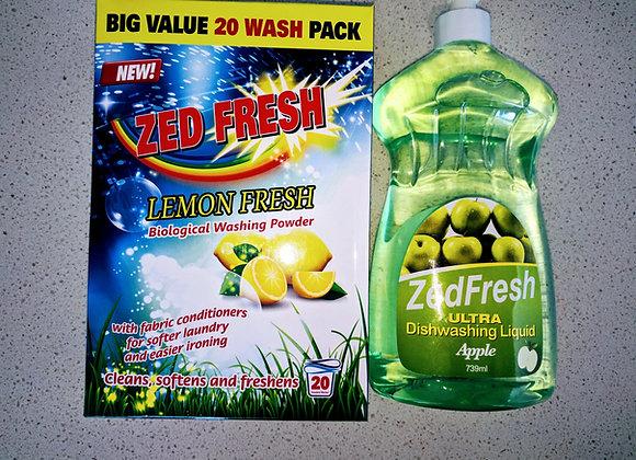 washing powder Zedfresh 1kg top & front load