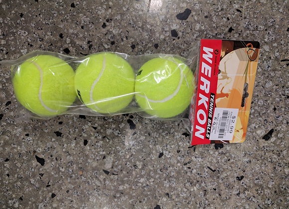 Rave high bounce tennis balls 3pk