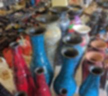 Balinese mosaïc vases