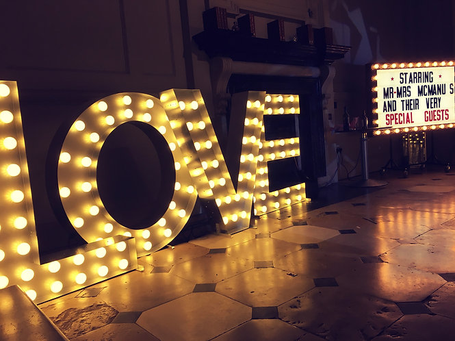 XL Light Up 'LOVE' Marquee Letters + XL Lightbox Combo Special Offer
