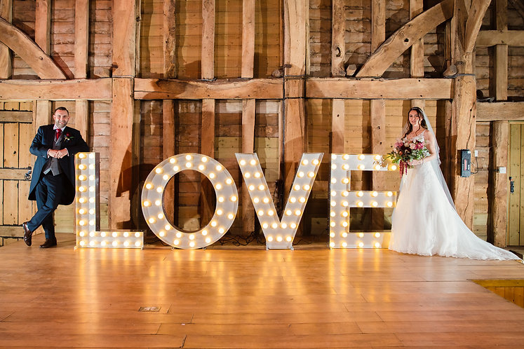 XL 1.2m Light Up 'LOVE' Marquee Letter -  Bulbs