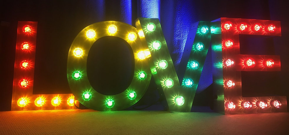 LOVE MARQUEE LIGHT LETTERS