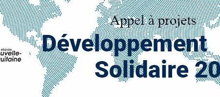 Appel à projets : Développement solidaire 2021